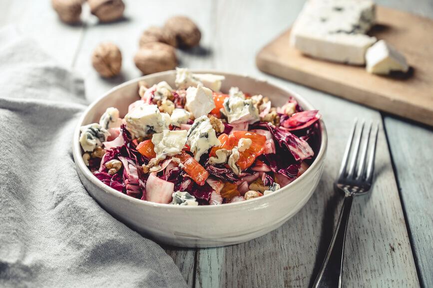 Salat aus rotem Chicorée
